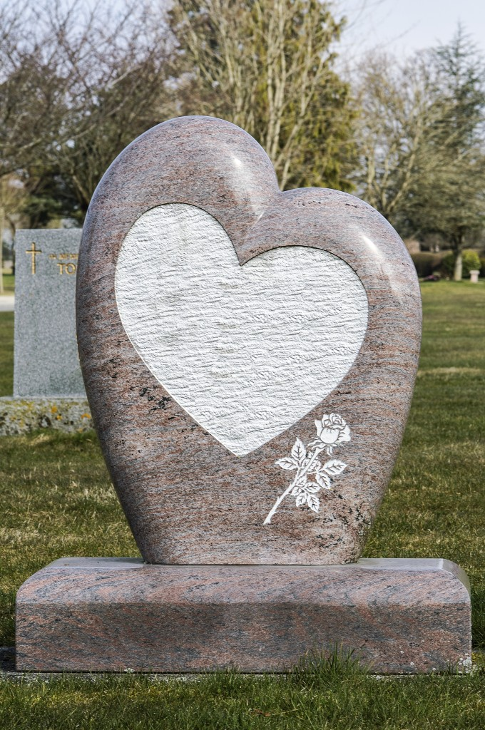 Heart Shaped Head Stone