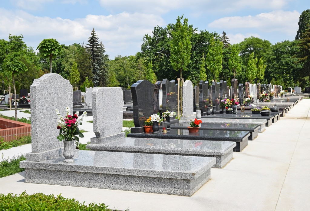 Tombstones in the public cemetery