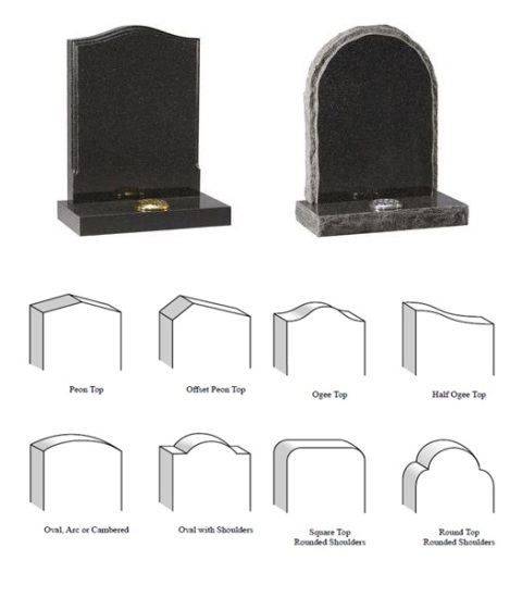 Gravestone Shapes