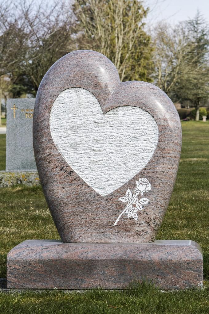 Heart Shaped Head Stone